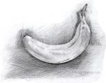 Рисование банана карандашом поэтапно